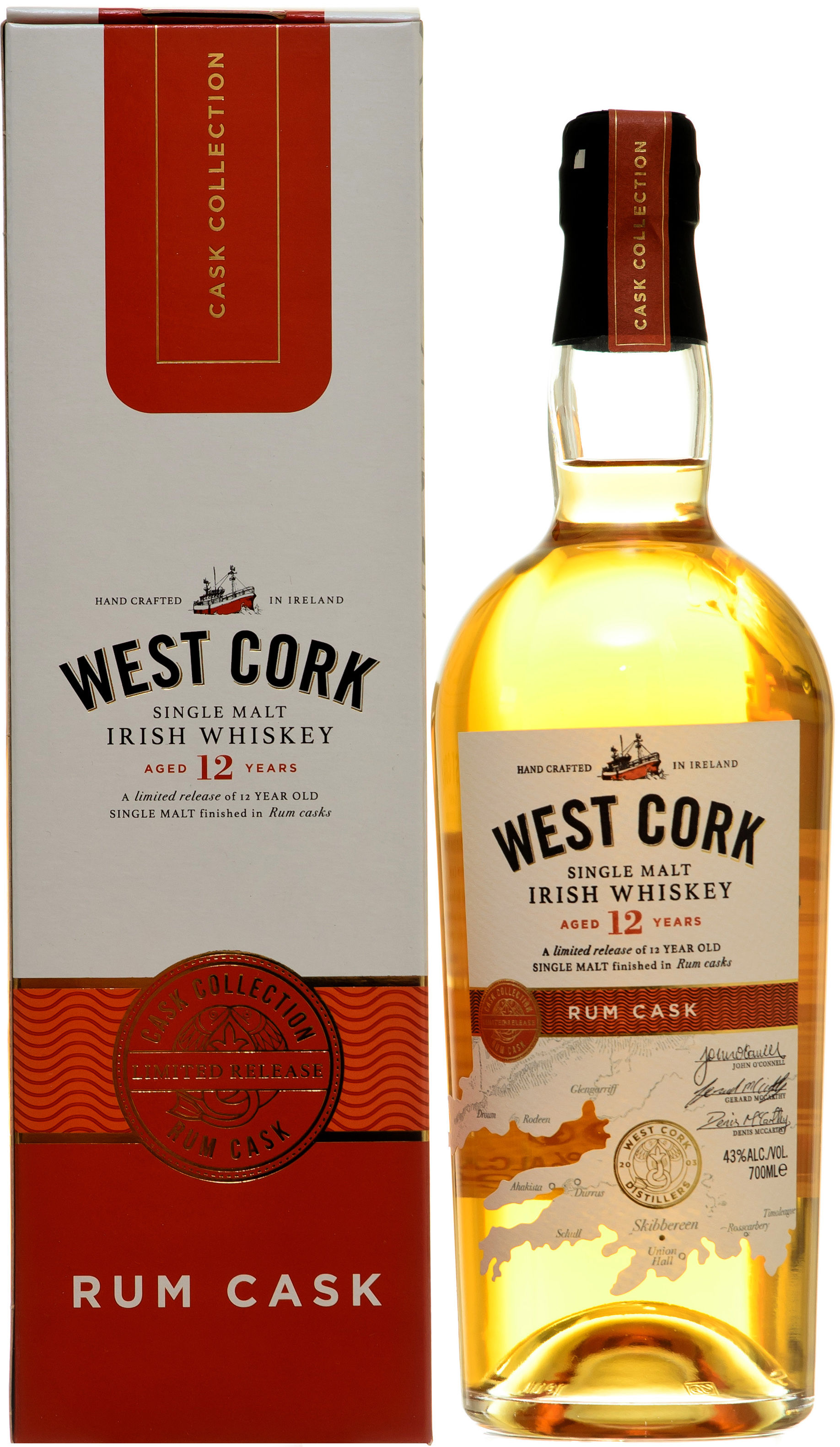 West Cork 12YO Rum Cask Single Malt