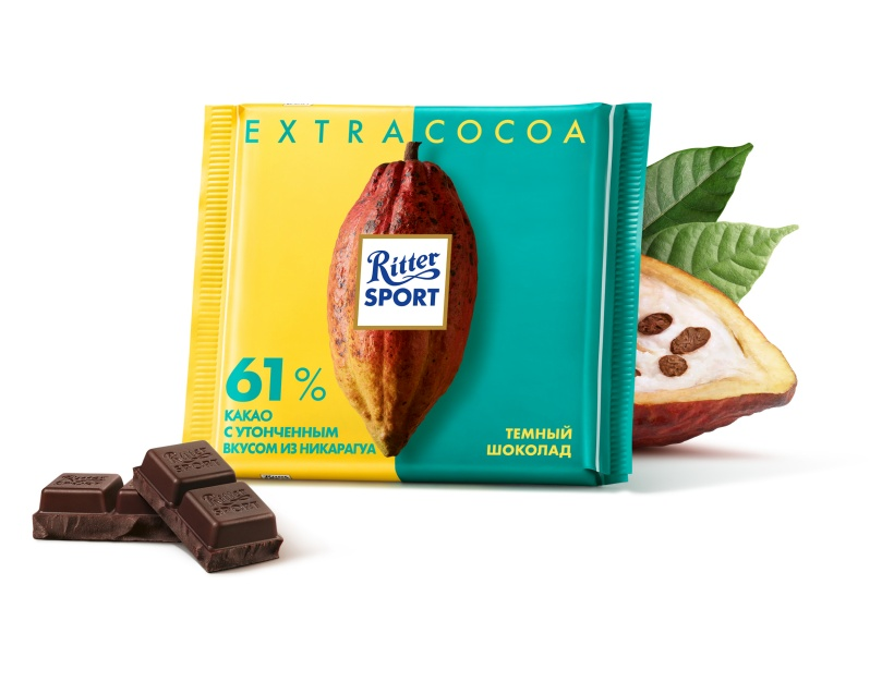 Шоколад RITTER SPORT EXTRA CACAO 61% какао 100 г