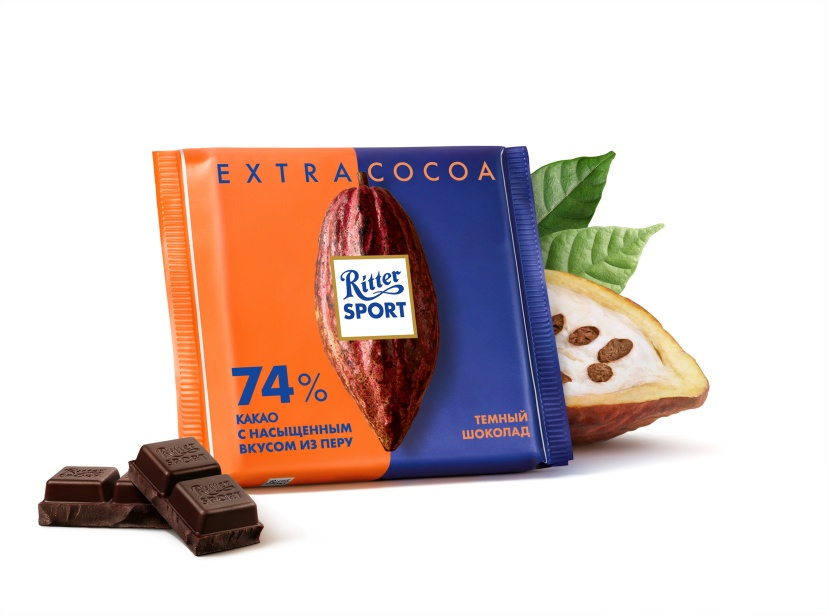 Шоколад RITTER SPORT EXTRA CACAO 74% какао 100 г