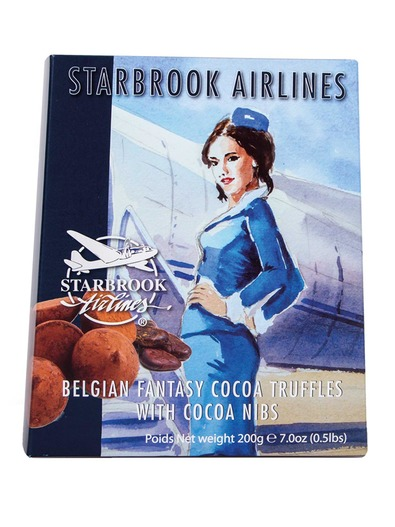 Starbrook Airlines Truffels With Cocoa Nibs конфеты трюфельные в какао 200 г
